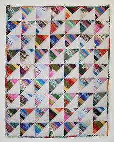 A collaborative project for the Children's Museum of South Dakota that I made using blocks from a Quiltsy block swap.