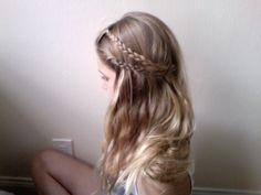 double hair braid.