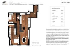 Planta ambientada rehabilitación vivienda en Madrid. Ideas Para, Bar Chart, Madrid, Interiors, Patio Design, Dining Room, Summer Time, Bar Graphs