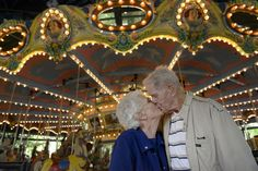 couple celebrates their 70th wedding anniversary at KENNYWOOD!!!! and no matter where they've lived, for 70 years, they visit kennywood every year.... :-)