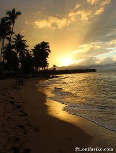 Sunset in Grand Bahia Principe El Portillo