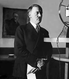 Great view of Hitler's hands, February 1, 1933. He'd been Chancellor less than 24 hours here. A rare photo of Hitler showing a shade of vulnerability.