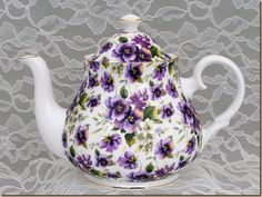 Image detail for -Pansy Chintz Bone China from England