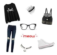 """"" by sjacumin ❤ liked on Polyvore featuring Frame Denim, Converse, Avenue, Wet Seal and Spitfire"