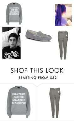 """""""Lazy day with Nate<3"""" by hazzalove420 on Polyvore featuring Private Party, Topshop and UGG Australia"""