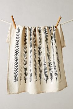 Fringed Feathers Dishtowel #decor #home #anthrofave