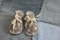linen baby shoes, newborn sewing