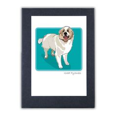 Paper Russells Grrreen Box Note Cards - Great Pyrenees