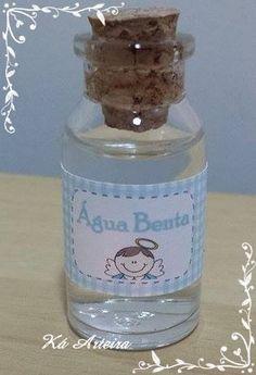 mini garrafinha água benta
