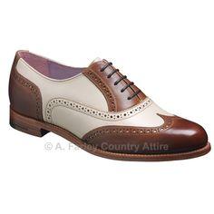 Barker Ladies Shoes – Freya – Brown Calf & Beige Calf – Brogue http://www.afarleycountryattire.co.uk/shop/barker-ladies-shoes-freya-brown-calf-beige-calf-brogue/ #barkershoes #brogues