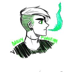"""avdotvya: """"Made a quick sketch of Danny before my doctors appointment. (I dont know why I drew danny's hair like but oh well. Randy Cunningham, Ghost Boy, Tattoo Hals, The Other Guys, Phantom 3, Old Shows, Quick Sketch, Anime, Cartoon Art"""