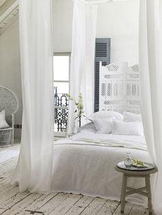 Een witte slaapkamer kan nooit misgaan!   Wooninspiratie