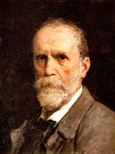 Samuel Albrecht (Albert) Anker 1831-1910 Bern, Switzerland :: Self portrait :: 1909