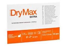 The Drymax Extra Dressing is a super absorbent dressing which is indicated for heavily exuding wounds. This can be used with compression therapy that minimizes the risk of maceration.