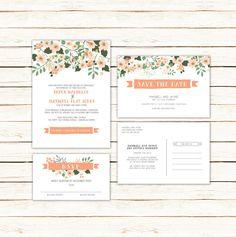 Caroline Wedding Invitation Suite  Beautifully by UrbanArrowCo, $45.00