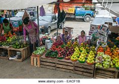 Fruits For Sale In A Mexican Market Stock Photo, Royalty Free ...