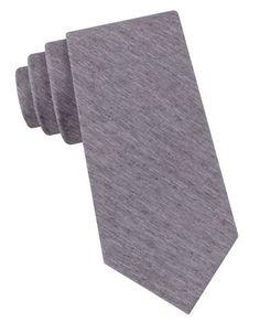 Black Brown 1826 Striped Silk-Blend Tie Men's Grey