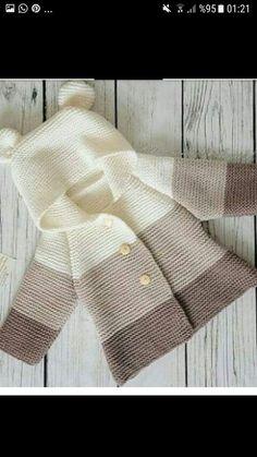 New Ideas Crochet Jacket Sweater Baby Cardigan Baby Boy Knitting Patterns, Baby Cardigan Knitting Pattern, Knitted Baby Cardigan, Knit Baby Sweaters, Knitted Baby Clothes, Crochet Jacket, Baby Patterns, Toddler Cardigan, Free Knitting