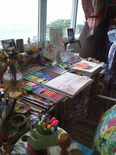 66 Ideas For Art Studio Organization Workspaces Inspiration Art Studio Design, Art Studio At Home, Home Art, Art Atelier, Atelier Photo, Casa Top, Art Hoe Aesthetic, Cool Office Space, Art Studio Organization