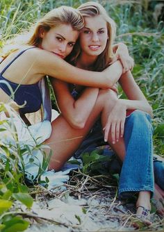 """""""Sister Act"""", DOLLY Australia, April 1993 Photographer: Scott Zane Teitler Models: Niki and Krissy Taylor Erin Taylor, Friends Come And Go, Models Backstage, Sister Act, Original Supermodels, Celebs, Celebrities, Actors & Actresses, Fashion Models"""