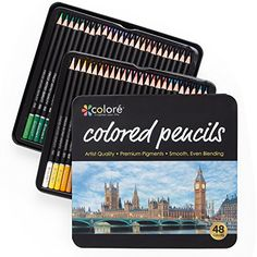 Colore Colored Pencils - 48 Premium Pre-Sharpened Color Pencil Set For Drawing Coloring Pages - Great Art School Supplies For Kids & Adults Coloring Books - 48 Colors  PREMIUM QUALITY - Colore colored pencils set comes with 48 different colors that are vibrant for your drawing pad or coloring books. All 48 color pencils are uniquely designed and manufactured for art enthusiasts, as well as aspiring and professional artists. Each pencil comes pre sharpened and color coded for easy ident...