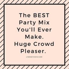 The Best Party Mix You'll Ever Make. Try it for your next event!  #partymix #appetizer #snackmix