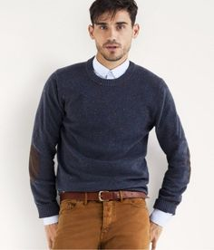 jumper & shirt with tucked collar