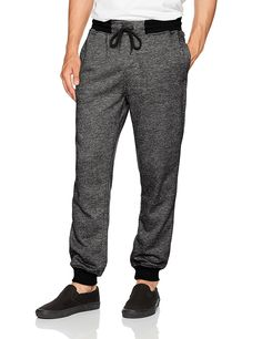 Southpole Men's Jogger Pants in French Terry Basic Marled Mens Jogger Pants, French Terry, Parachute Pants, Fashion Brands, Topshop, Sweatpants, Christmas 2017, Clothing Accessories, Casual