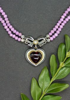 Turquoise Jewelry, Chain, Beautiful, Rhinestones, Heart, Handmade, Silver, Necklaces