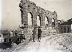 Major Pierro Tozzis standing amid ruins of the coliseum in Italy 1918