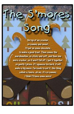 S'mores song for camping -might have to start this as a summer tradition :D Brownie Girl Scouts, Girl Scout Smores, Swaps For Girl Scouts, Girl Scout Swap, Girl Scout Crafts, Girl Scout Troop, Girl Scout Cookies, Girl Scout Camping, Camping Songs For Kids