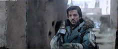 Rogue One: a Star Wars Story → Cassian realizing how badass Jyn could be