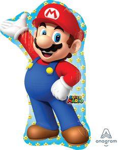 Muotofoliopallo;+Super+Mario+55+cm+x+83+cm