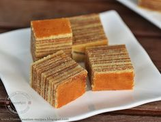 Kek Lapis Sarawak : is a layered cake, traditionally served in Sarawak, Malaysia on special occasions.