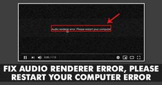 📻 📟📰 #Audio #Computer #Error #Fix #Renderer #Restart📈 How To Fix Audio Renderer Error, Please Restart your Computer Error Recently, lots of Windows 10 users have reported that they are getting the 'Audio renderer error, please restart your computer' error message while playing YouTube Video. So, if you are also getting the same error message while playing video, then check out the 4 […] Remove viruses,clean virus,repair, fix and speed up your computer ,Troubleshooting your desktop or… Using Windows 10, Lots Of Windows, Latest Technology News, Science And Technology, Computer Repair Services, Android Codes, Latest Gadgets, Web Browser, Audio