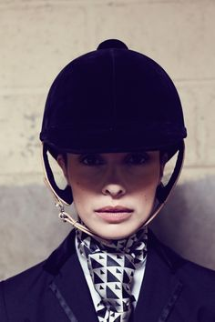 Ginette NY for Guibert Paris spring-summer Jodhpur, Equestrian Chic, Equestrian Fashion, Race Horse Breeds, Women Bow Tie, Sports Helmet, Sport Fashion, Fashion 2016, Horse Fashion