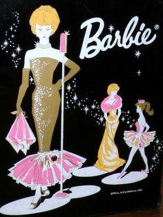 1962 BARBIE Black Patent Wardrobe Case