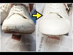 흰 운동화 세탁 (신발 빨래) 일상 생활 팁 -생활의 지혜- - YouTube