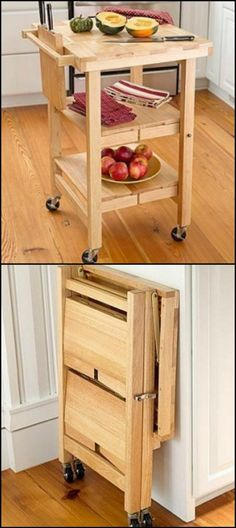 http://amzn.to/1B76Yt7  If your kitchen doesn't have the space to accommodate a full time kitchen island, then perhaps this folding version is for you.  Do you need one of these in your kitchen?