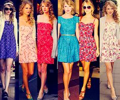 Taylor always has the cutest dresses..so delicate with the flower prints