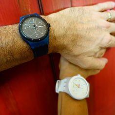 #Swatch SISTEM BLUE & SISTEM WHITE