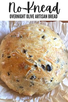 Easy Bread Recipes, Savoury Recipes, Savoury Dishes, Delicious Recipes, Great Recipes, Favorite Recipes, Overnight Bread Recipe, Olive Loaf, Good Food