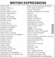 Btitish expressions British slang n vocab British Quotes, British Slang Words, British Terms, Funny British Sayings, British Things, British People, English Vocabulary Words, Learn English Words, English Writing Skills