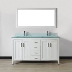 Wyndham Collection Andover 60 Inch White Um Round Sink 56 Mirror Single Bathroom Vanity Ping Great Deals