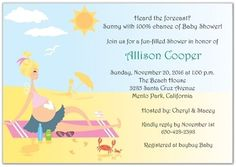 Lovely Find This Pin And More On Oh Baby! By Mrsfishgirl. Beach Babe Baby Shower  Invitations: ...