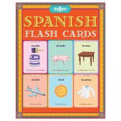 eeBoo Spanish Language Flash Cards