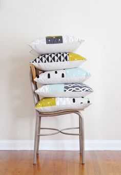 Patterned Patchwork Pillows from Cotton & Flax
