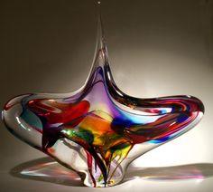 Hand blown glass spiral