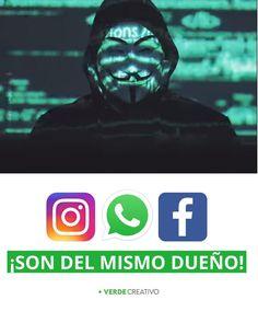 ¡ANONYMOUS REVELA EL GRAN SECRETO!  ¡Instagram, Whatsapp y Facebook son de Mark Zuckerberg!   ✅¡Da like y comparte quién no lo sepa!   ☝Recuerda seguirnos en @_verdecreativo  #marketingdigital #mktdigital #digitalmarketing #marketingagency #diseñowebargentina #diseñowebVenezuela #diseñowebColombia #publicidadenredessociales #publicidadDigital #facebookads #instagramparaemprendedores #manejoderedessociales #diseñowebenargentina #emprendimientoenargentina… My Dad, Anonymous, Digital Marketing, Sons, Darth Vader, Facebook, Fictional Characters, Instagram, My Son