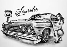 Top 50 Canvas Designs Art Wallpaper Images for Womens Lowrider Drawings, Chicano Drawings, Chicano Art, Car Drawings, Canvas Painting Images, Oil Painting Pictures, Pictures To Paint, Paintings, Tatouage Lowrider